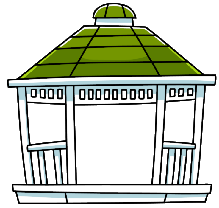 Gazebo drawing pencil. Clipart cartoon and in