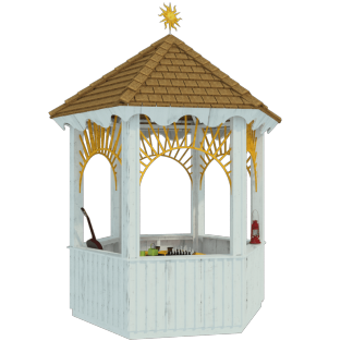 Gazebo drawing simple. Wooden plans youre viewing