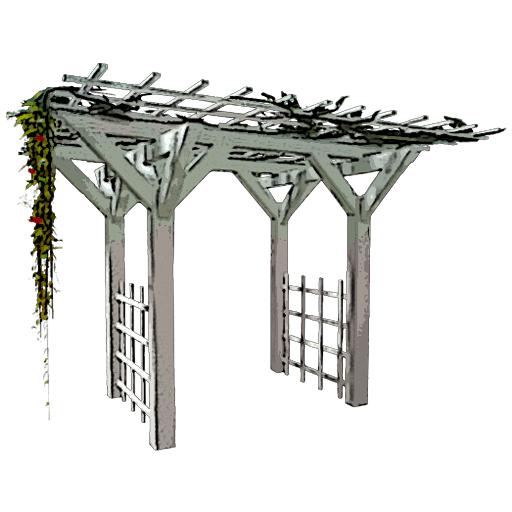 Gazebo drawing sketch. Trellis archway mobile official