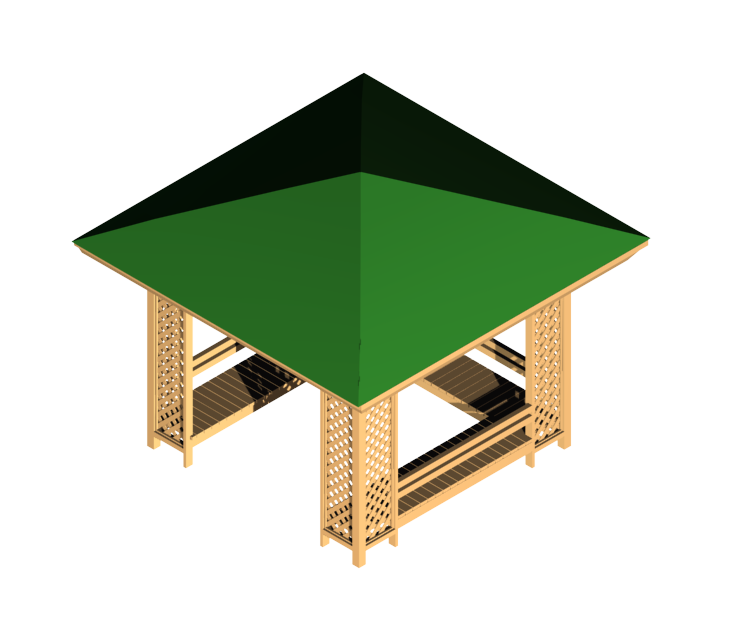 Gazebo drawing dwg. Ds max cadblocksfree