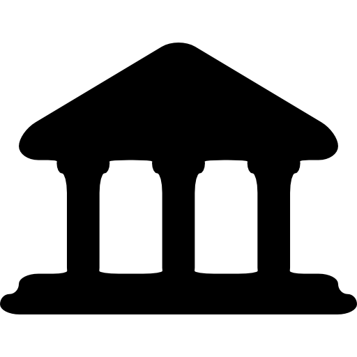 Gazebo vector template. Building with columns icons