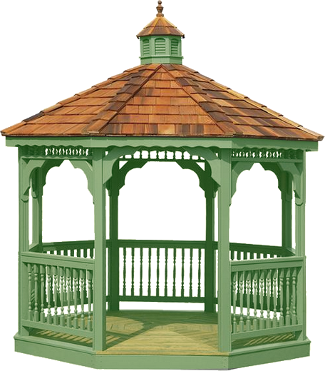 Forgetmenot houses gazebos. Gazebo vector straw roof picture royalty free library