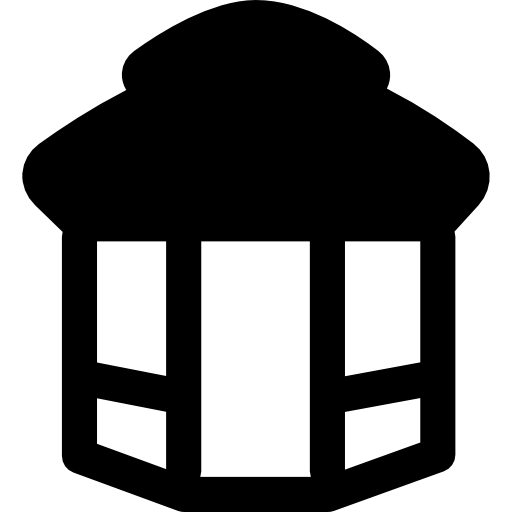 Gazebo vector template. Roundabout icons free download