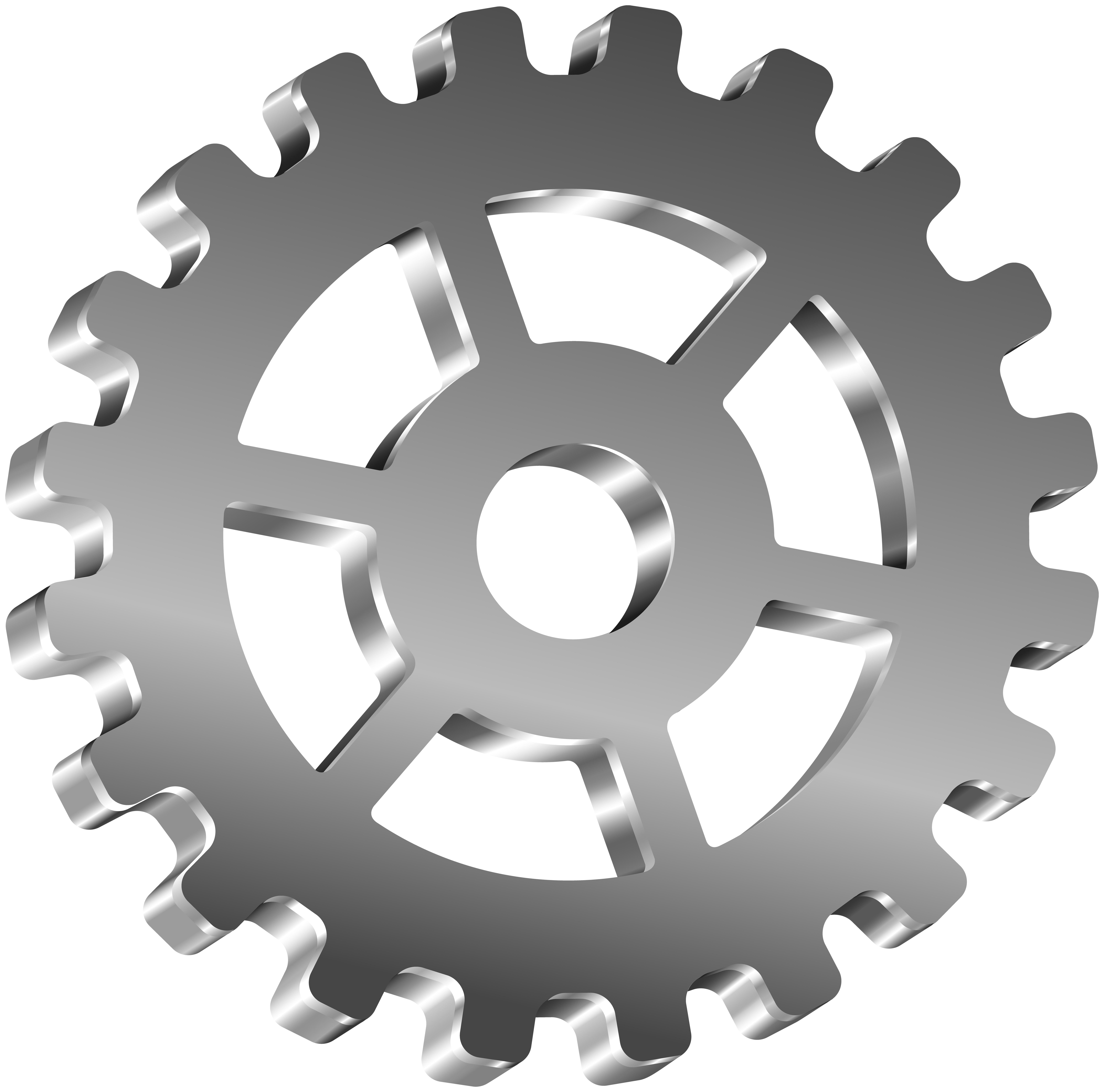 Transparent art png image. Gear clip clip black and white library