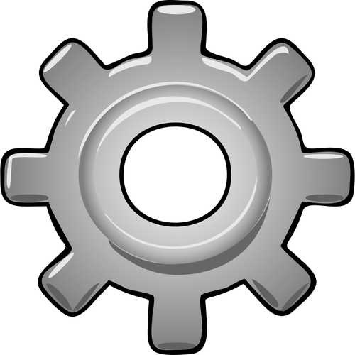 Gear clipart. Gray png free