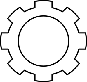 Transparent gear line art. Clipart png best printable