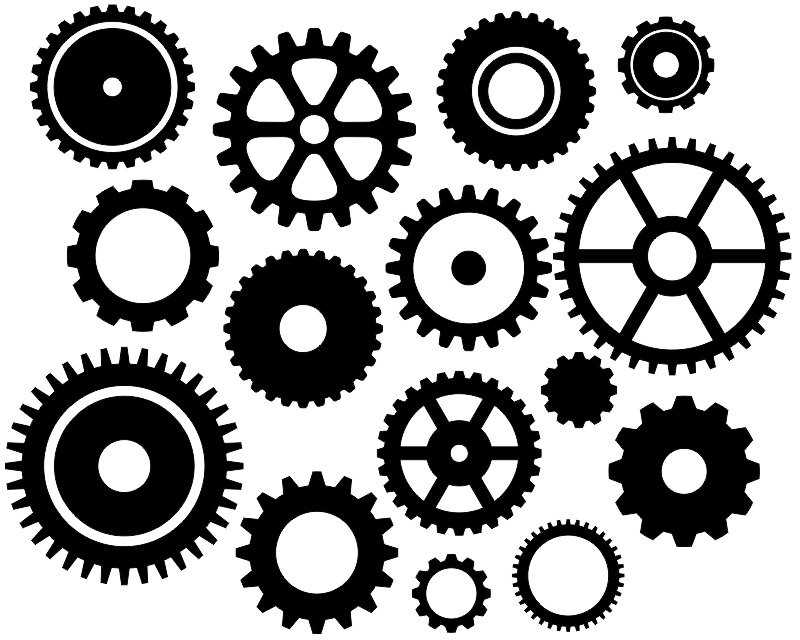 Gear clipart different. Depend less on each
