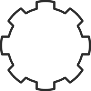 Transparent gear line art. Free steampunk cliparts download