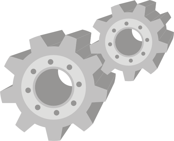Gears clipart animated. Clip art at clker