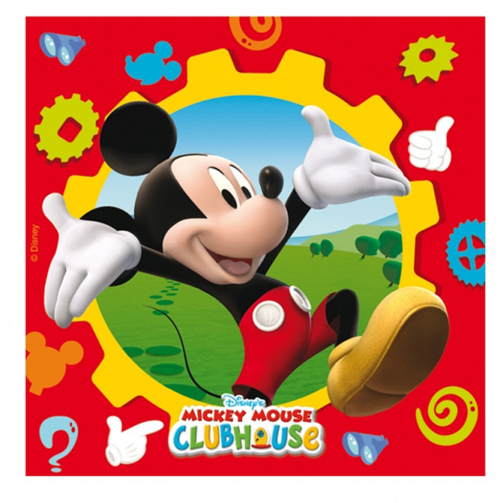 Gears clipart mickey mouse clubhouse. Luncheon napkins disney from