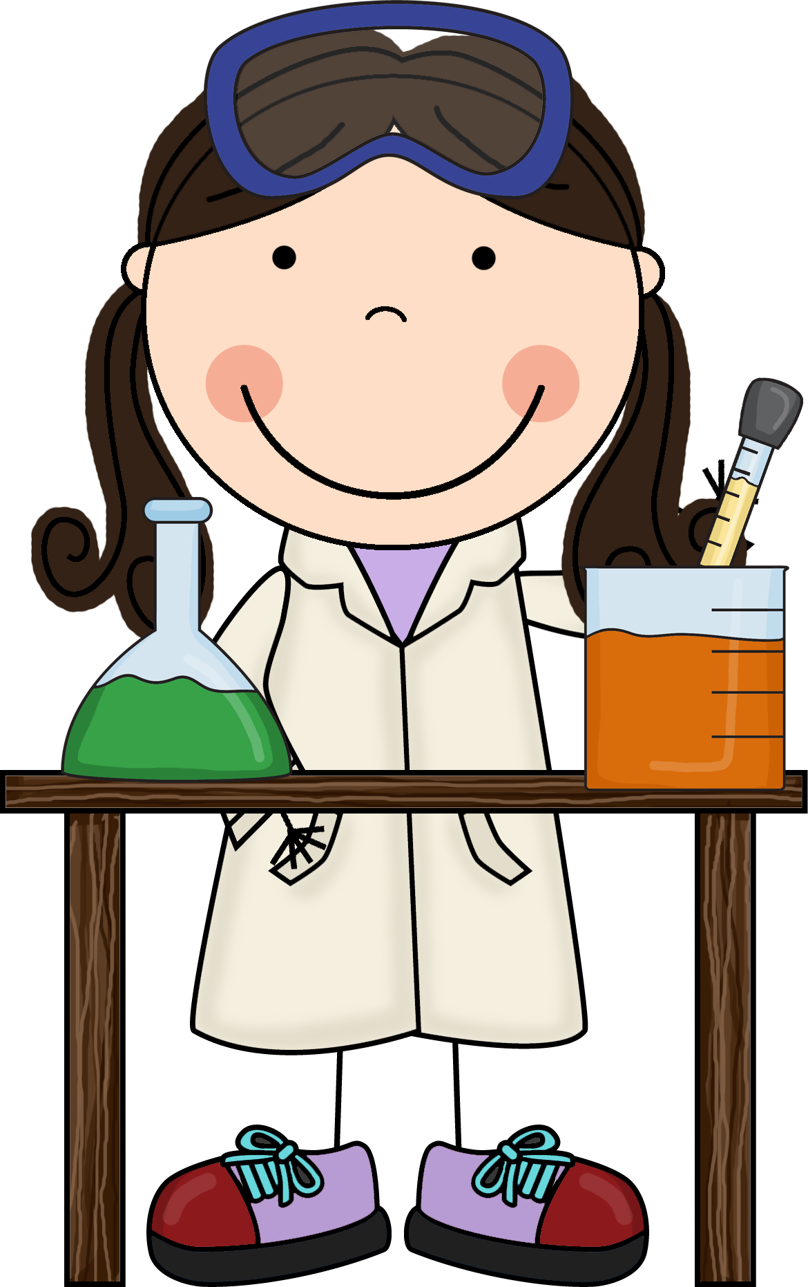 Free best ciencia para. Woman clipart science clip free download