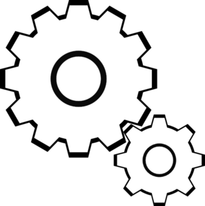 Transparent gear line art. Simple machines clipart clipartmonk