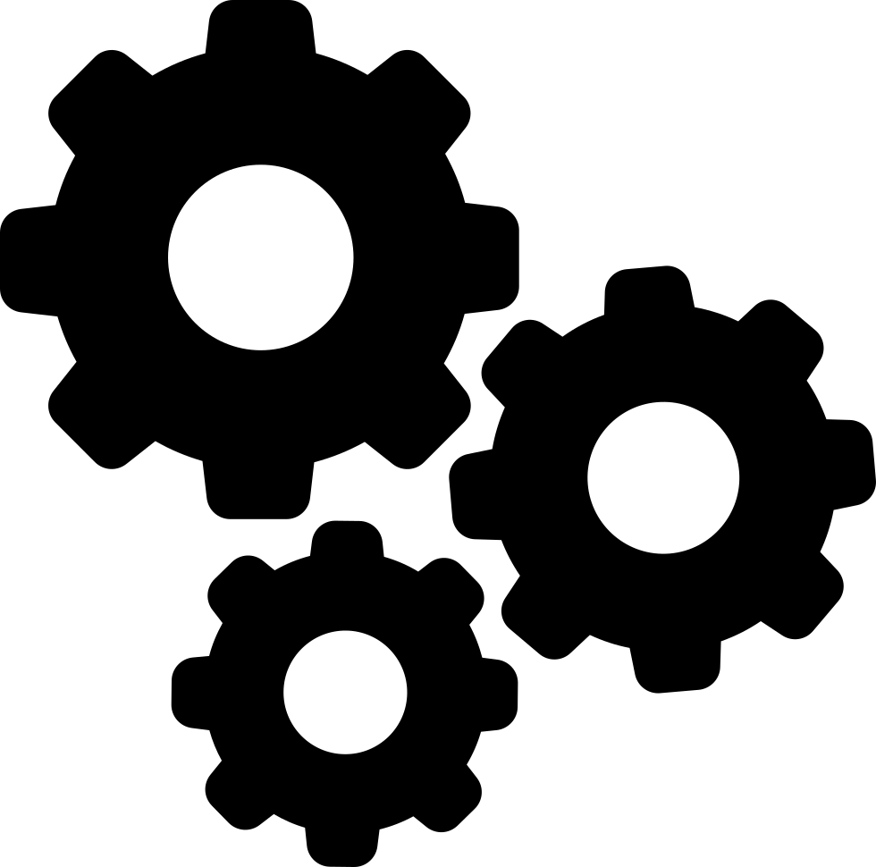 Gears png file. Settings svg icon free