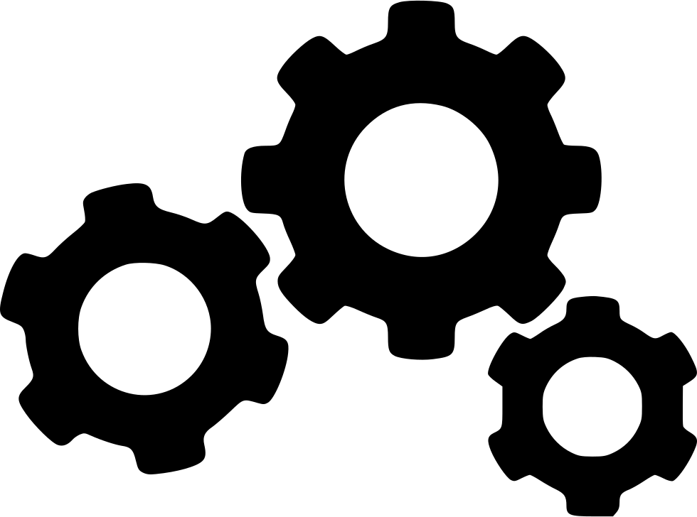 Gears png icon. Svg free download onlinewebfonts