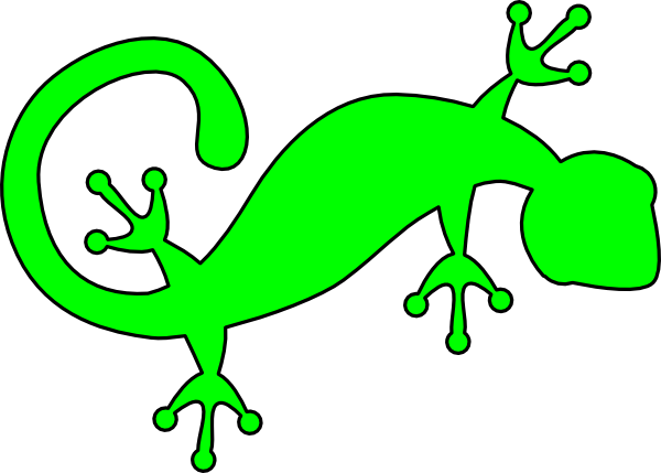 lizard clipart green lizard