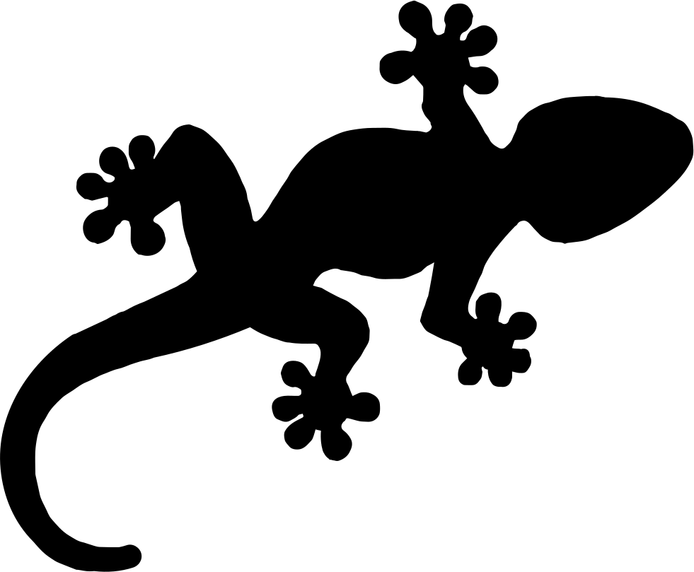 Gecko clipart svg. Reptile shape png icon