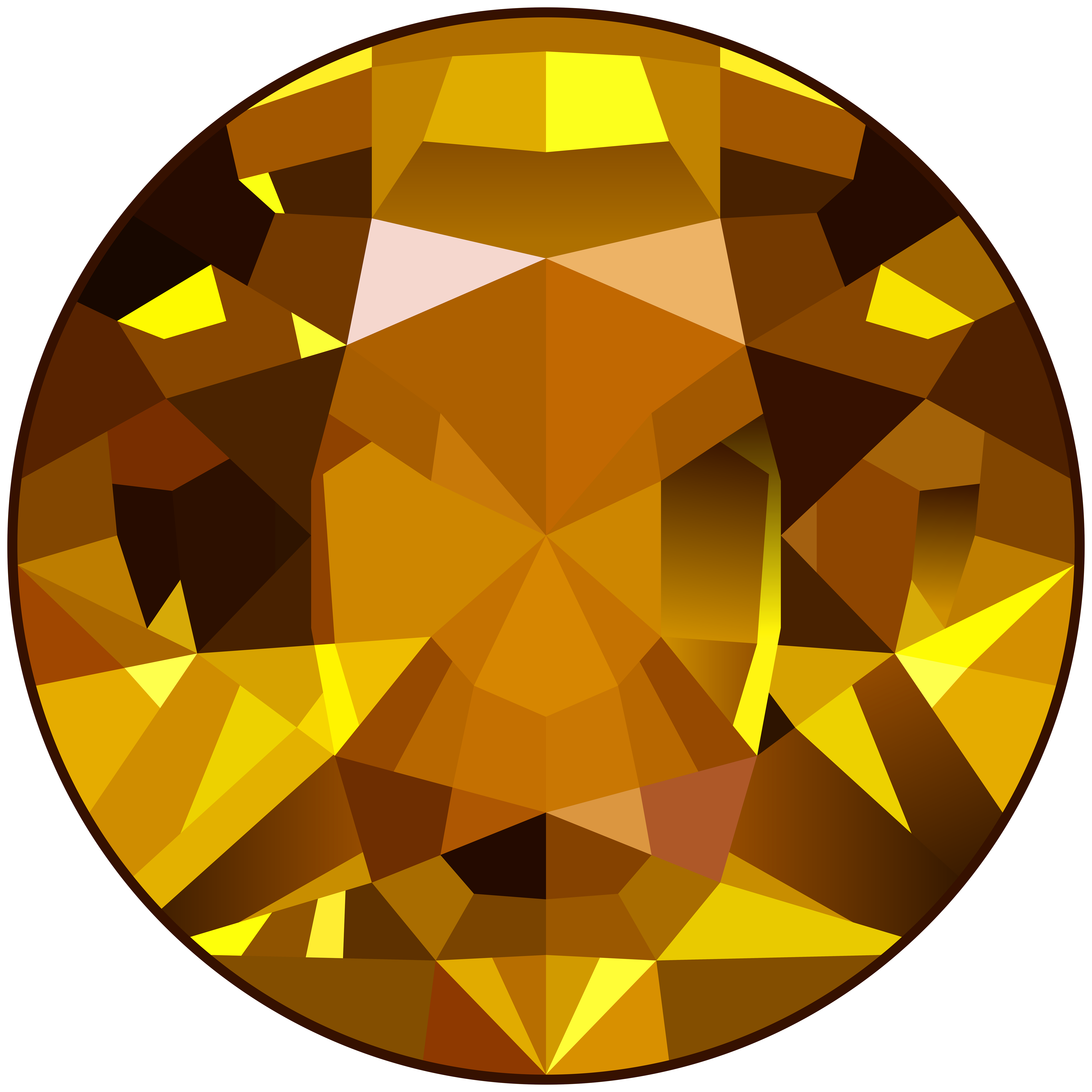 transparent gem yellow
