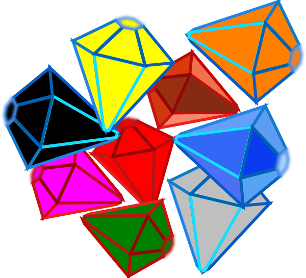 Emerald vector gem. Gems clip art at