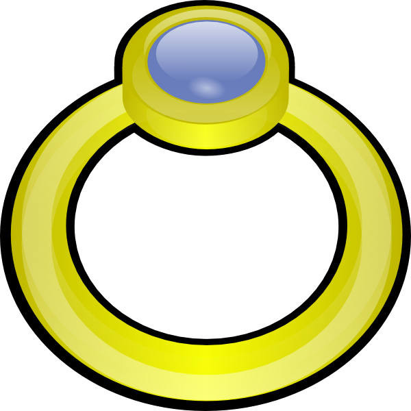 Rings clipart cartoon. Golden ring with gem