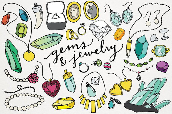 Gems and logos jewels. Jewelry clipart vector freeuse