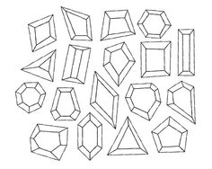 Outline clipart gemstone. Diamond and doodle clip