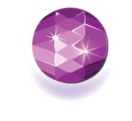 Gem clipart pink gem. Colored gems round shape
