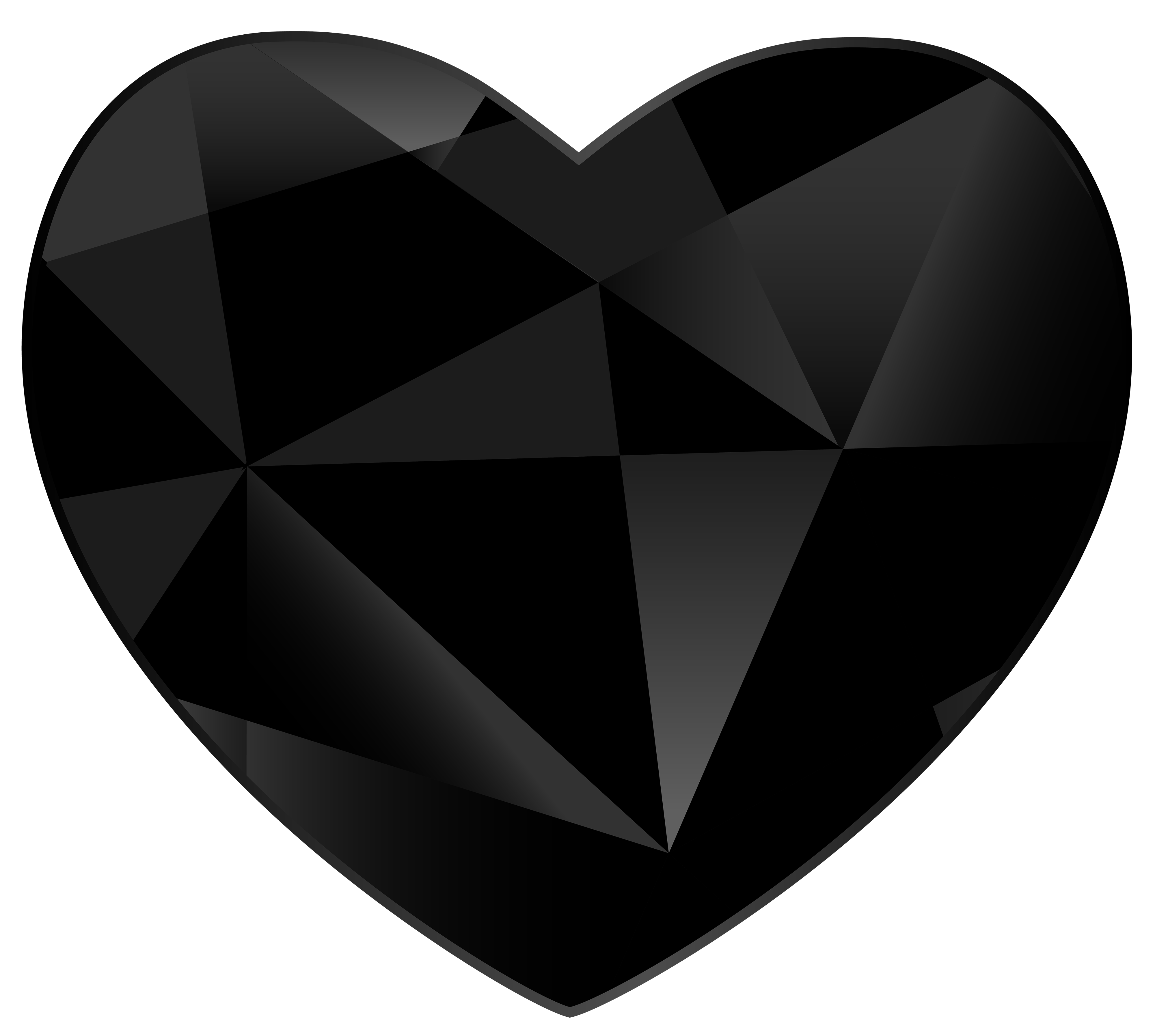 Gem clipart top. Black heart png best