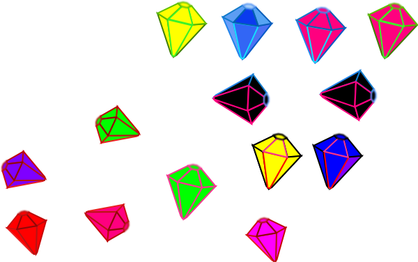 Gem clipart vector. Gems in pieces clip