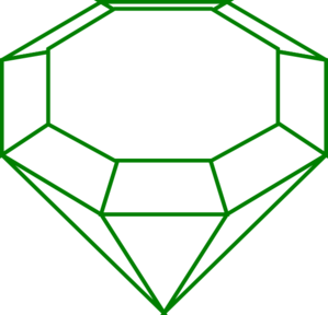 Emerald vector. Gem clipart