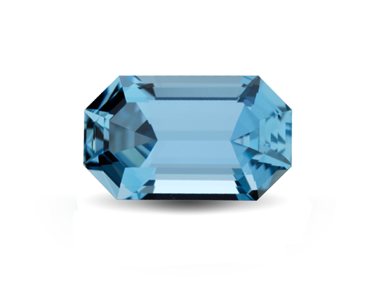 Gem transparent aquamarine. Highlands jewellery