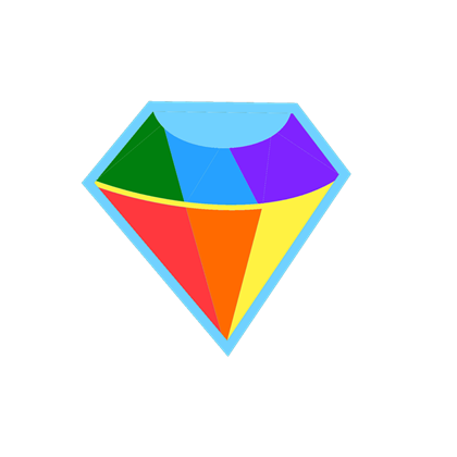 transparent gem rainbow