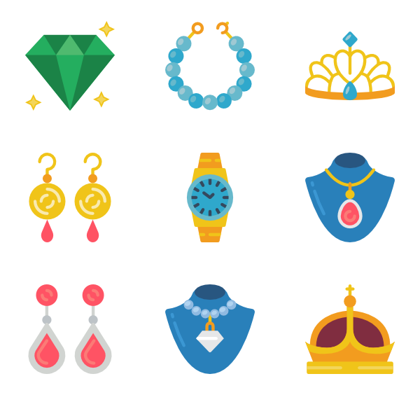 Gems vector. Gem icons free jewelry