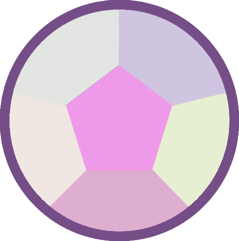 gem transparent rainbow