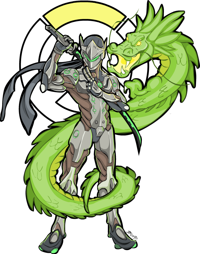 Genji dragon png. Overwroughtfan san colored by