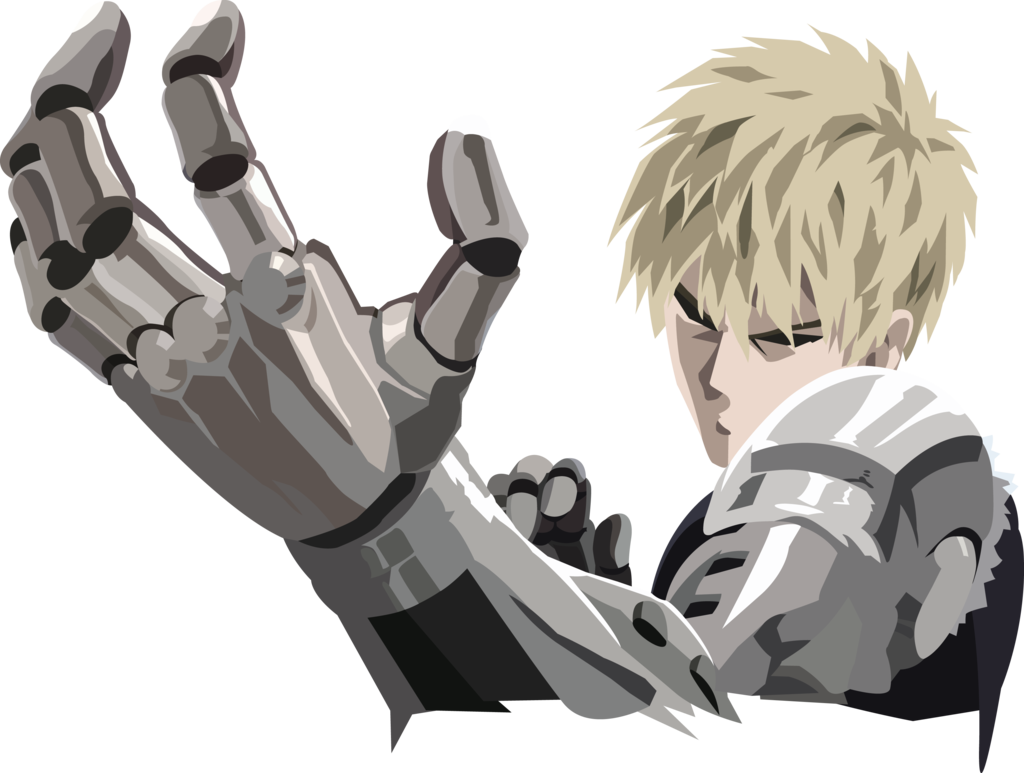 Genos transparent arms. One punch man by