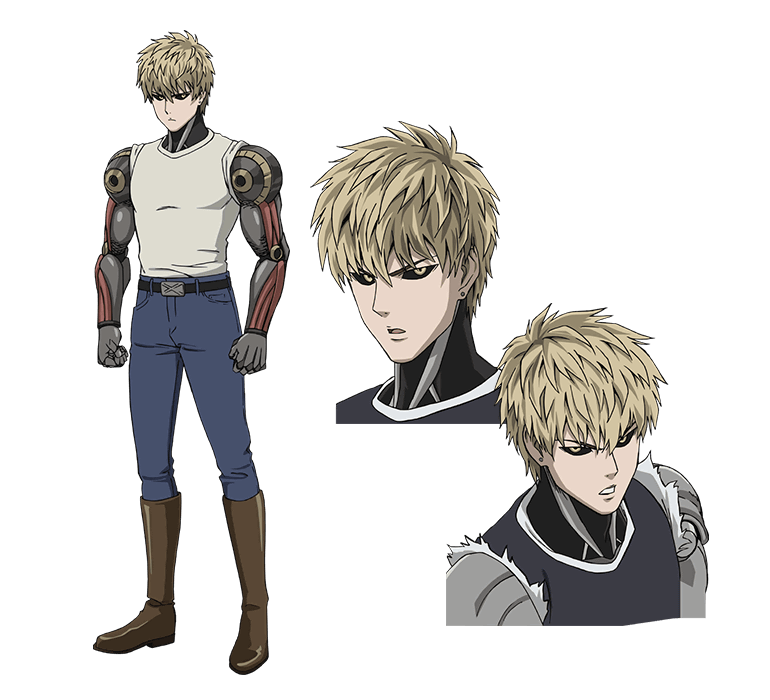 Genos transparent handsome. Onepunch man kinda eh