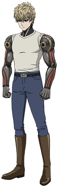 Genos transparent embarrassed. One punch man main