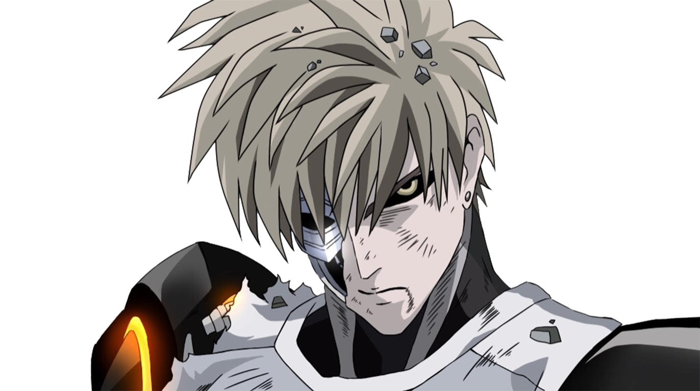 Genos transparent handsome. Anime one punch man