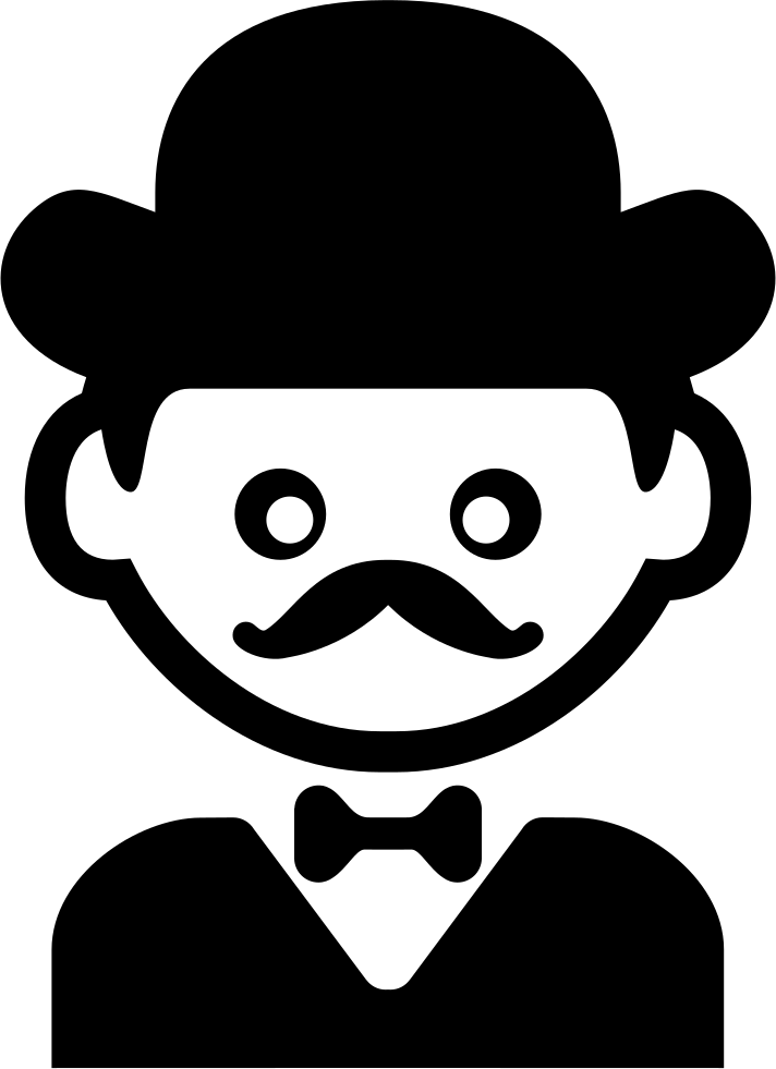Hat svg gentleman. With elegant a bow