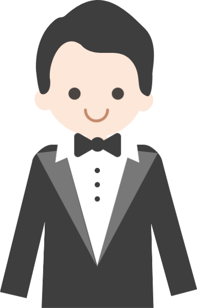 Male vector bow tie. Free online man character