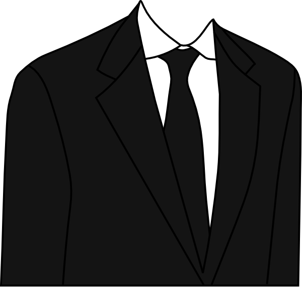 Vector suit animated. Black clip art at