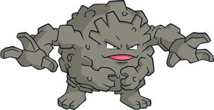 Geodude transparent gen. Pokemon shiny graveler pokedex