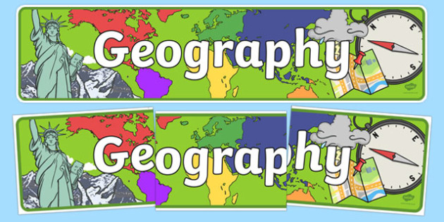 Geography clipart banner. Display geo sign poster