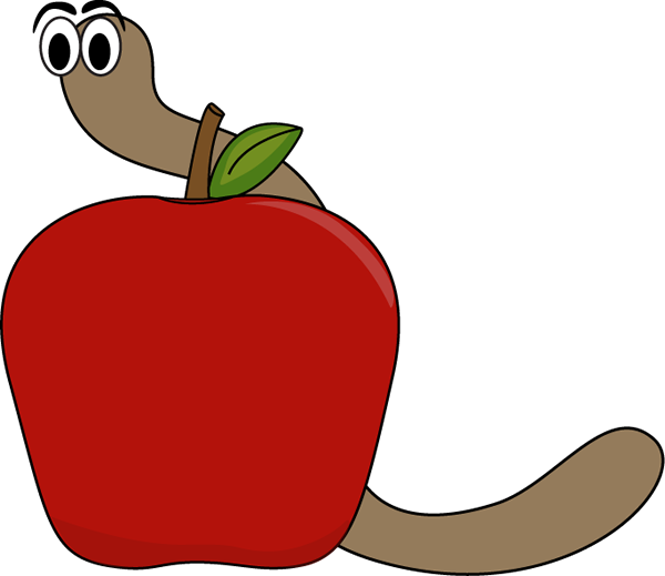 Worm clipart cute. Free apple wedge cliparts