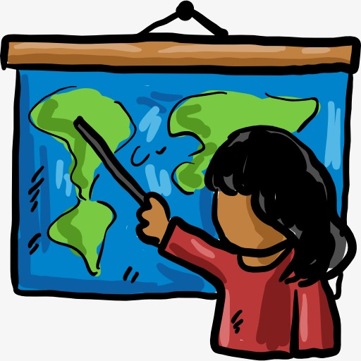 Geography clipart geography class. Female teacher lesson attend