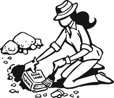 Geology clipart black and white. Untitled biologist