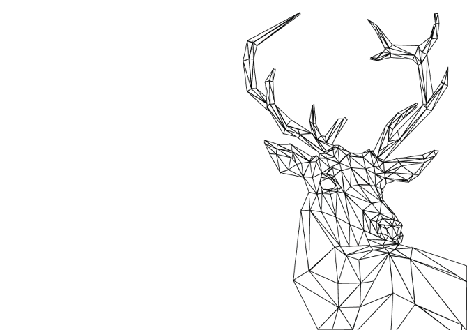 Geometric animal png. Animals v claire line
