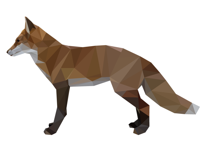 Geometric fox art png. By blackpawolf on deviantart