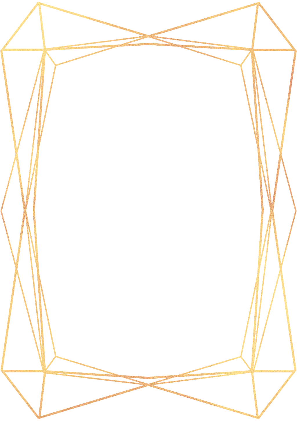 Geometric frame png. Gold frames ftestickers report