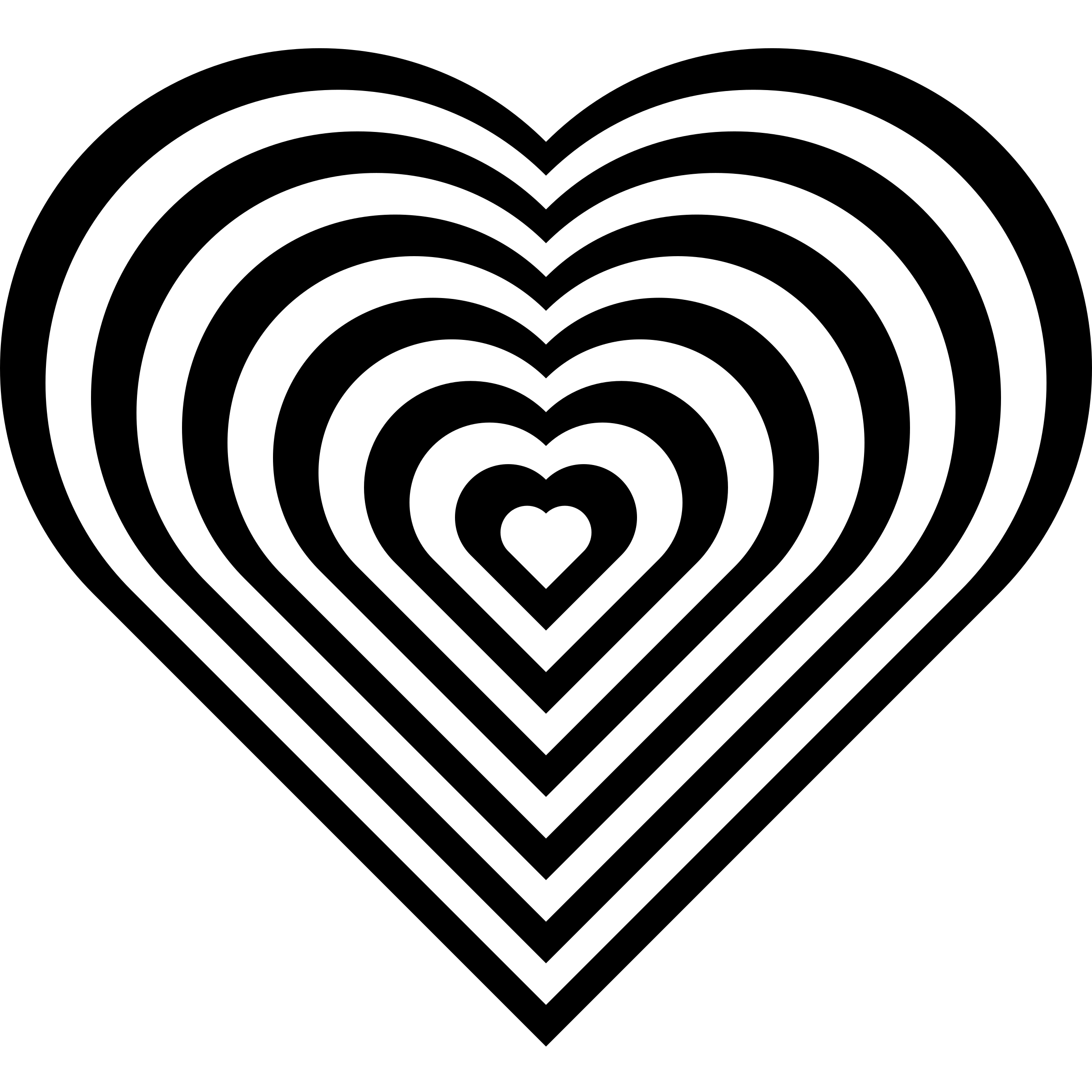 Geometric heart png. Zebra icons free and